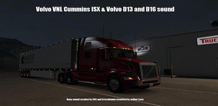 Photo of ATS – Volvo Vnl Isx D13 & D16 Sound V1 (1.32.x)