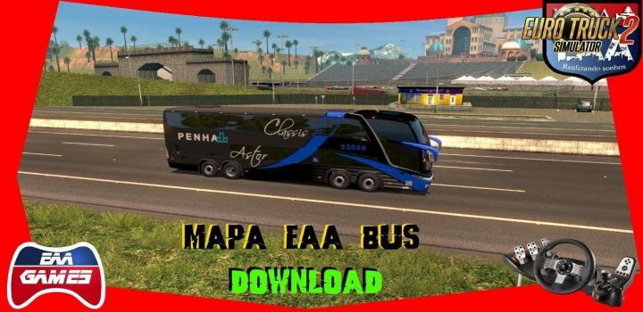 Photo of ETS2 – Eaa Bus Map V5.0.5 Alpha (1.32.x)