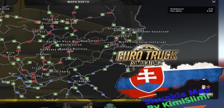 Photo of ETS2 – New Slovakia Map V9.0B (1.32.x)