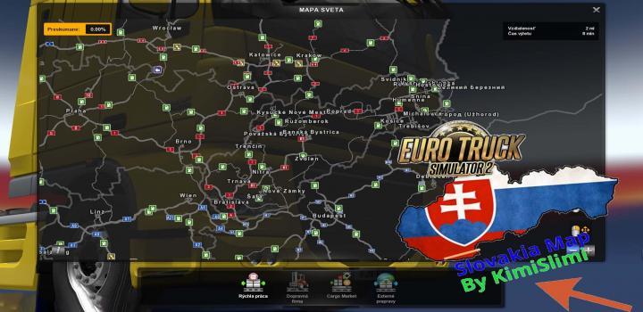 Photo of ETS2 – New Slovakia Map V9 (1.32.x)
