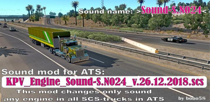 Photo of ATS – Engine Sound S.n024 (1.33.x)