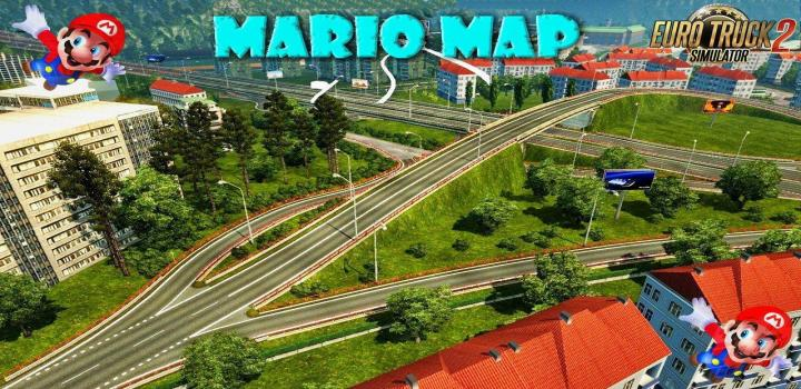 ETS2 - Mario Map V12 8 Compatible With Dlc Baltic (1 33 x