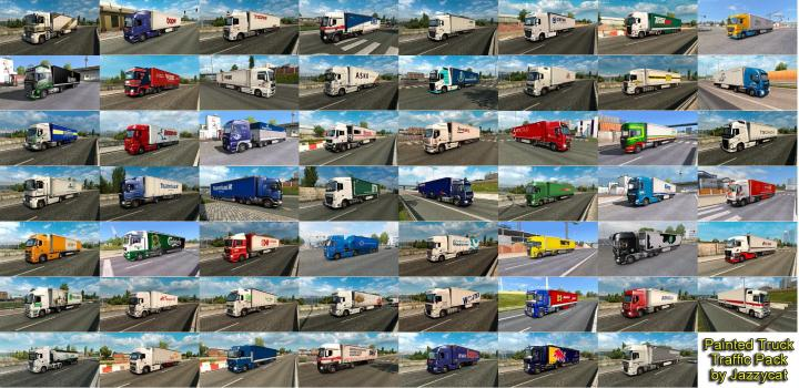 ETS2 - Painted Truck Traffic Pack By Jazzycat V6 7 (1 33 x