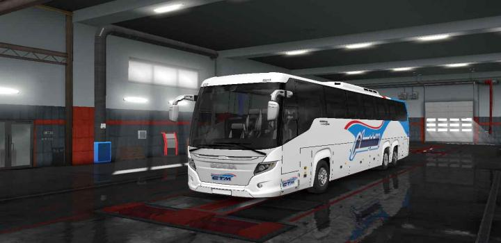 Photo of ETS2 – Scania Touring Bus – Skin C.t.m (1.33.x)