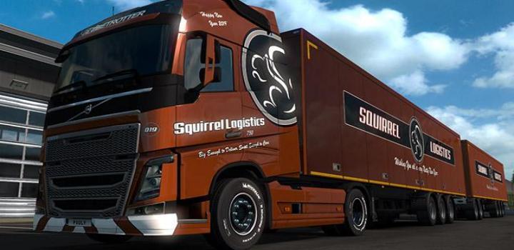 Photo of ETS2 – Squirrel Logistics Combo 2019 (1.33.x)