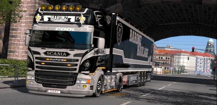 Photo of ETS2 – Baronz Haulage (Scania S + Scania Rjl) V1 (1.33.x)