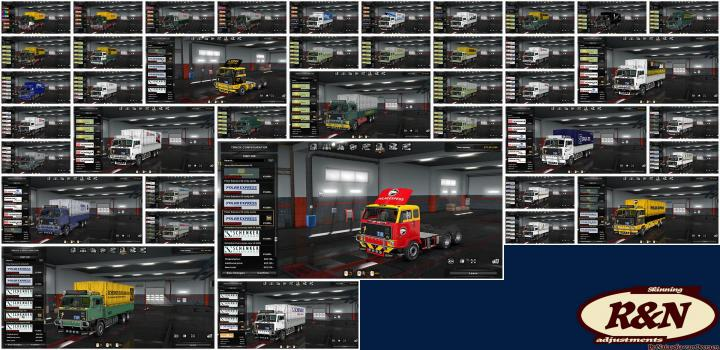 Photo of ETS2 – Skins Pack For Volvo F88 (1.33.x)