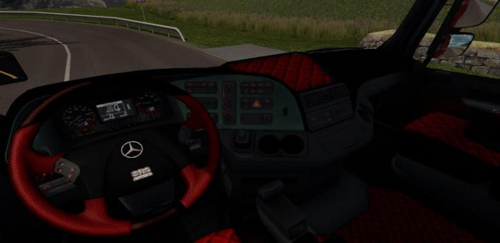 Photo of ETS2 – Mercedes Actros Mp3 Black & Red Interior (1.34.x)