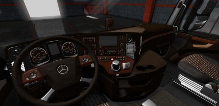 Photo of ETS2 – Mercedes Actros Mp4 Lux Wood Interior (1.34.x)