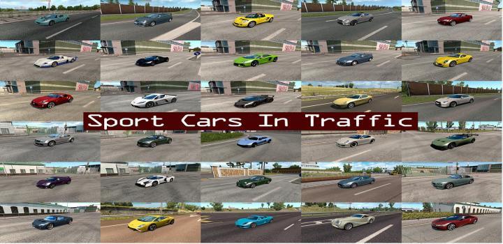 ETS2 - Sport Cars Traffic Pack By Trafficmaniac V3 7 (1 34 x