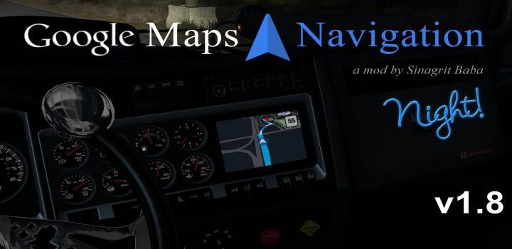 Photo of ATS – Google Maps Navigation Night Version V1.8 (1.35.x)