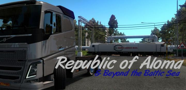 Australia Map Ets2.Ets2 Map Republic Of Aloma And Beyond The Baltic Sea 1 35 X