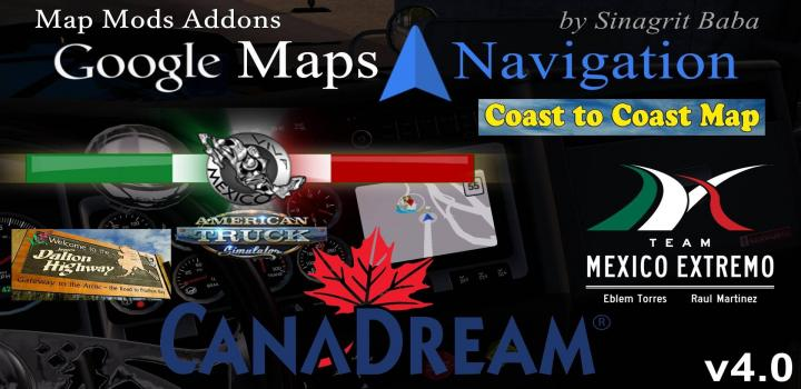 Photo of ATS – Google Maps Navigation Night & Normal Map Mods Addons V4.0 (1.35.x)