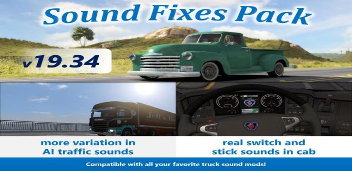 ETS2 - Sound Fixes Pack V19 34 (1 35 x) | Truck Simulator
