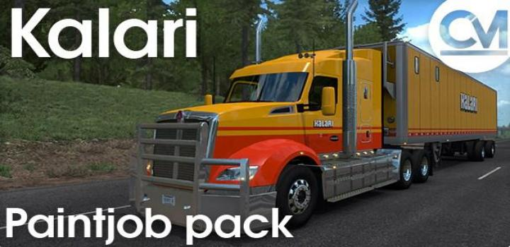 Photo of ATS – Kalari Transport Paintjob Pack V1.0 (1.36.x)
