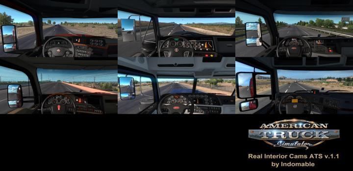 Photo of ATS – Real Interior Cams V1.1 (1.36.x)
