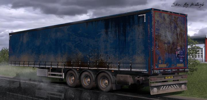 Photo of ETS2 – Worn Curtain Trailer Skin Pack V1 (1.36.x)