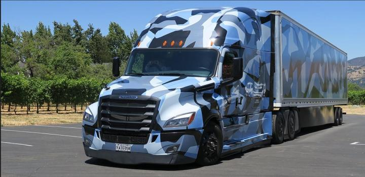 Photo of ATS – Freightliner Cascadia Combo Camouflage V1.0 (1.36.x)