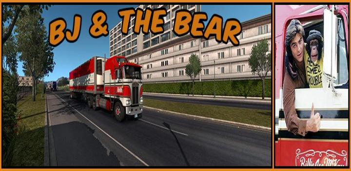 Photo of ATS – Kenworth K100E And Trailer Bj And The Bear Truck Skin V1.1 (1.36.x)