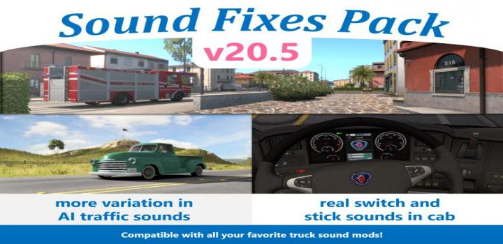 Photo of ATS – Sound Fixes Pack V20.5 (1.36.x)