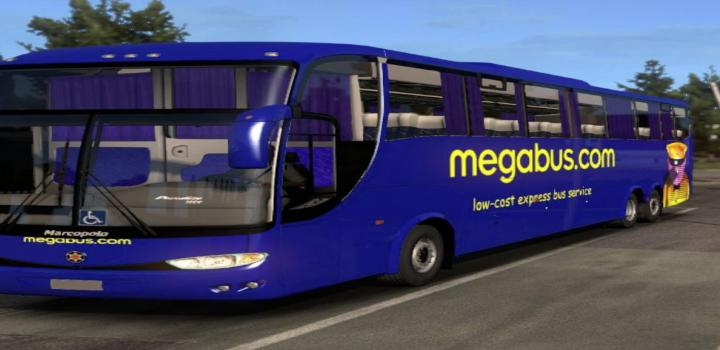 Photo of ETS2 – Mercedes G6 -1200 & Megabus Skin (1.36.x)