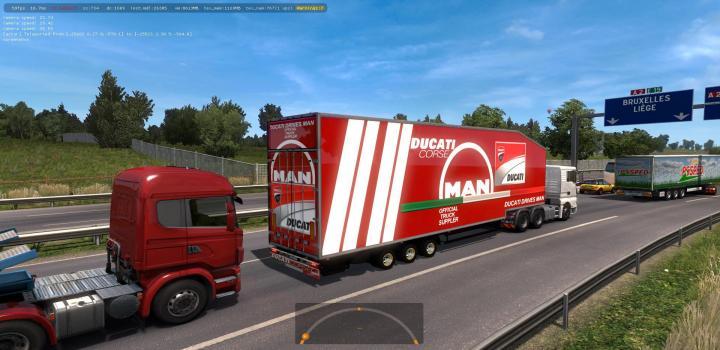 Photo of ETS2 – Krone Doubledeck Trailer In Traffic (1.36.x)