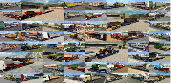 Photo of ETS2 – Overweight Trailers And Cargo Package V8.4 (1.36.x)