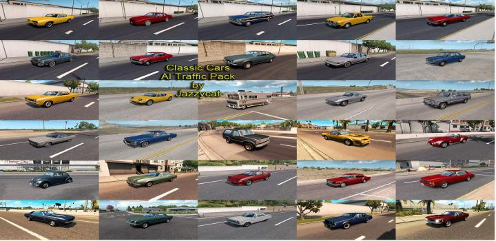 Photo of ATS – Classic Cars Ai Traffic Package V5.4.1 (1.37.x)
