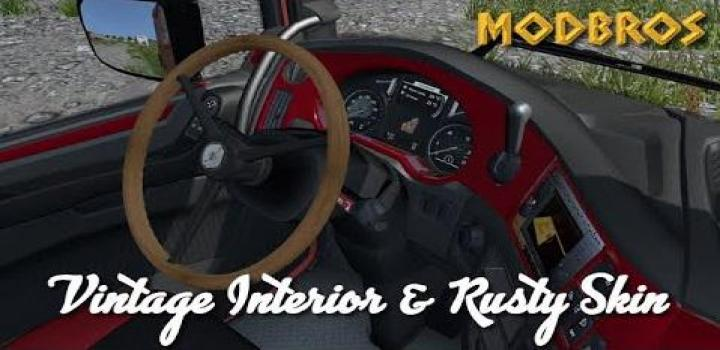 Photo of ETS2 – Daf Euro 6 Vintage Interior And Rusty Skin V1.0 (1.36.x)