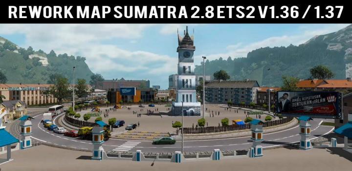 Photo of ETS2 – Sumatra Map V2.8 Reworked (1.37.x)