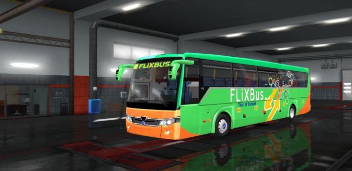 Photo of ETS2 – Temsa Safir Plus Flix Bus V2.0 (1.36.x)