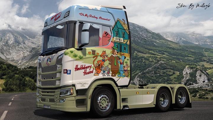 Photo of ETS2 – Huckleberry Hound Ng Scania Skin V1.0 (1.36.x)