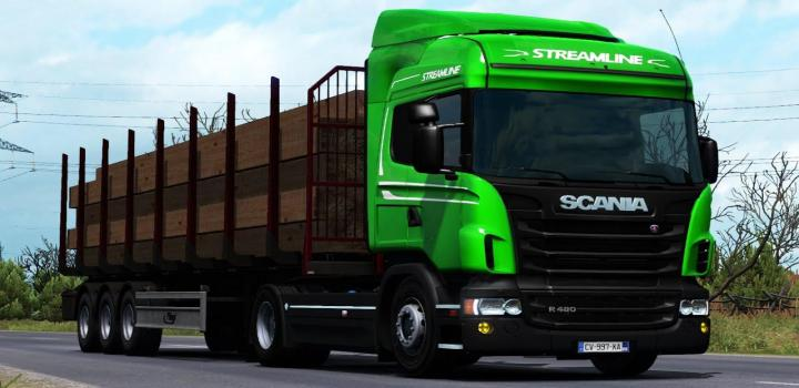 Photo of ETS2 – Ownable Log Trailer Fliegl  V1.0.3 (1.37.x)