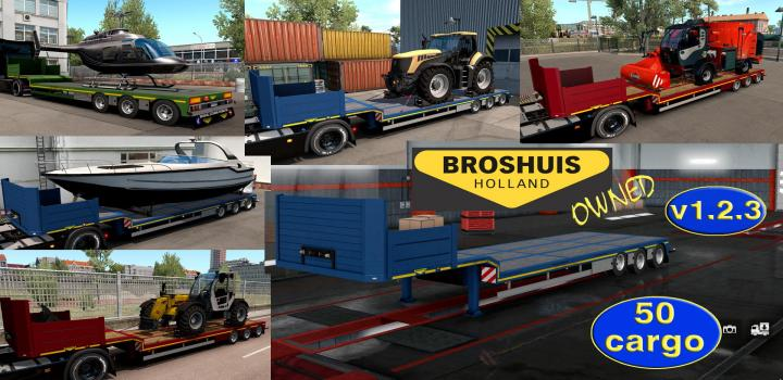 Photo of ETS2 – Ownable Overweight Trailer Broshuis V1.2.3 (1.37.x)