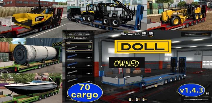 Photo of ETS2 – Ownable Overweight Trailer Doll Panther V1.4.3 (1.37.x)