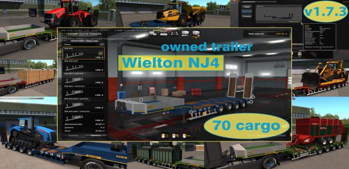 Photo of ETS2 – Ownable Overweight Trailer Wielton Nj4 V1.7.3 (1.37.x)