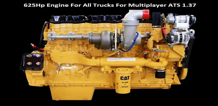Photo of ATS – 625Hp Engine for All Trucks for Multiplayer (1.37.x)