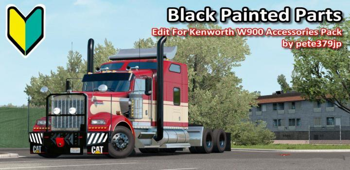 Photo of ATS – Black Painted Parts Accessories Pack V1 (1.37.x)