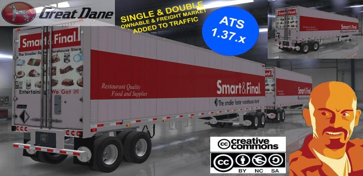 Photo of ATS – Great Dane Trailers Single & Double (1.37.x)