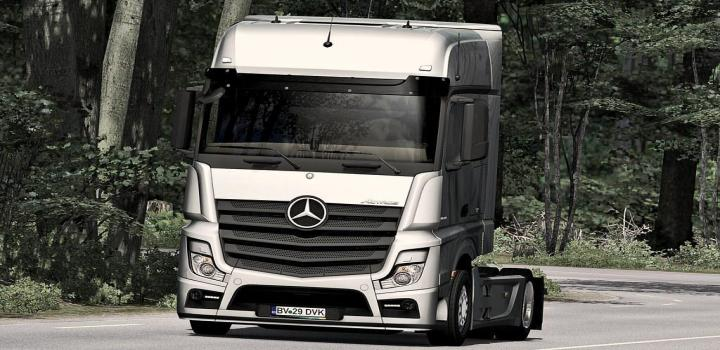 Photo of ETS2 – Mercedes Actros Mp4 Edit By Alex V1.6 (1.37.x)