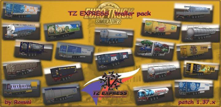 Photo of ETS2 – Tz Trailers Package (1.37.x)