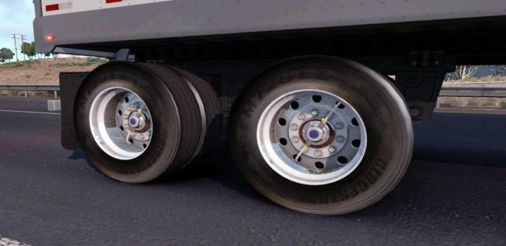 Photo of ATS – Realistic Wheels for Trailers V1 (1.38.x)