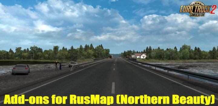 Photo of ETS2 – Addon for Rusmap V2.1.1: Northern Beauty V2.4 (1.38.x)