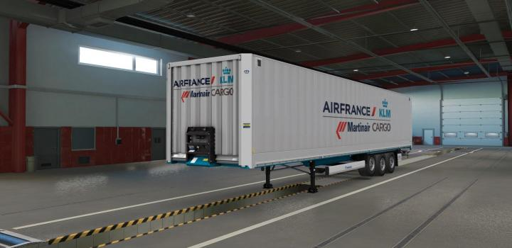 Photo of ETS2 – Aircargo Skin for Krone Dry Liner V1 (1.38.x)