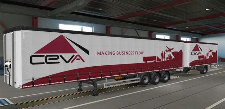 Photo of ETS2 – Ceva Logistics Skin V1 (1.38.x)