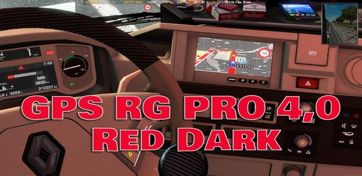 Photo of ETS2 – Gps Rg Pro Red Dark V4 (1.37.x)