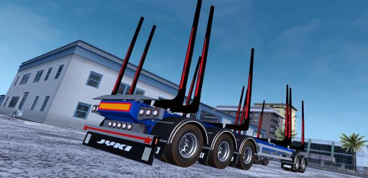 Photo of ETS2 – Jyki Timber Tandem Trailer V1.3.4 (1.38.x)