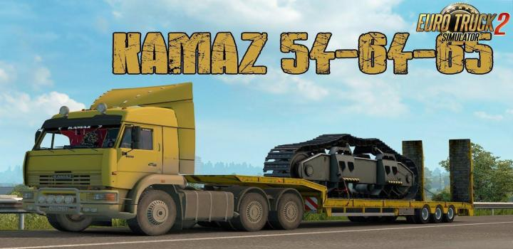 Photo of ETS2 – Kamaz 54-64-65 + Interior V1.1 (1.38.x)
