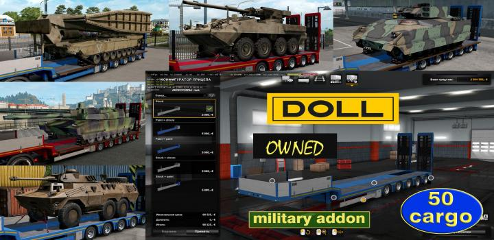 Photo of ETS2 – Military Addon for Ownable Trailer Doll Panther V1.3.3 (1.38.x)