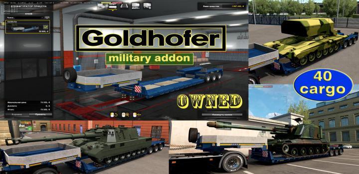 Photo of ETS2 – Military Addon for Ownable Trailer Goldhofer V1.4.3 (1.38.x)